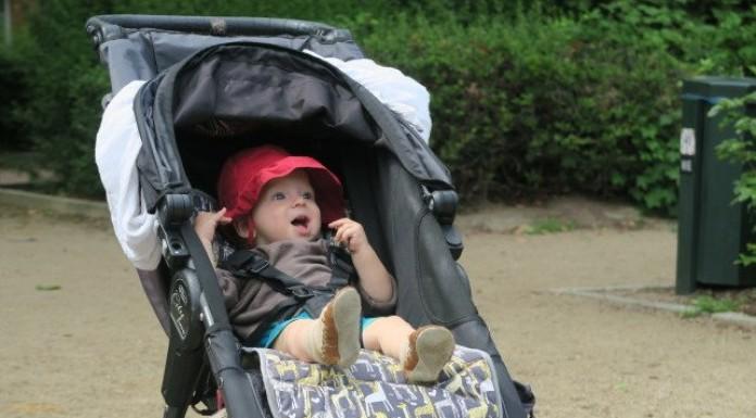 Happy Baby in Pram - best pram for travelling
