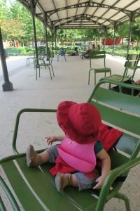 Paris with kids - Baby Dining at Tuileries, Paris